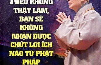 Nếu không thực sự làm bạn sẽ không nhận được lợi ích nào từ Phật pháp