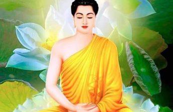 Phật ngồi tòa sen