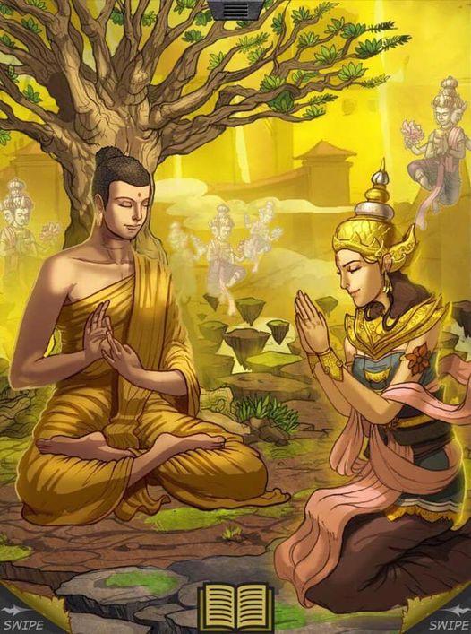 Đức Phật và Hoàng hậu Mallikā (Cận sự nữ xuất sắc) - Thư Viện Hoa Sen