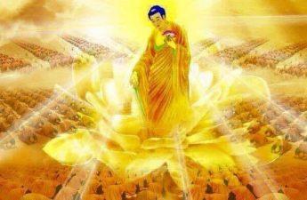A Mi Đà Phật tỏa sáng