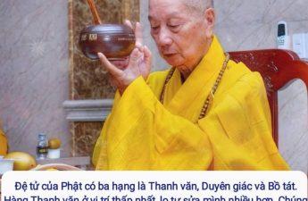 Đệ tử của Phật có ba hạng là Thanh văn, Duyên giác và Bồ tát - HT Thích Trí Quảng
