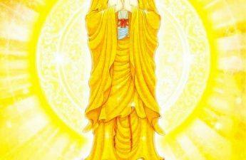 A Mi Đà Phật sắc vàng