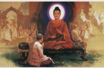 Tôn giả Sàriputta ngồi xuống gần Phật Thế Tôn