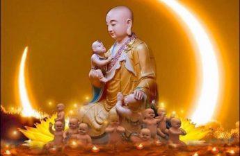 Địa Tạng Bồ Tát và các em bé